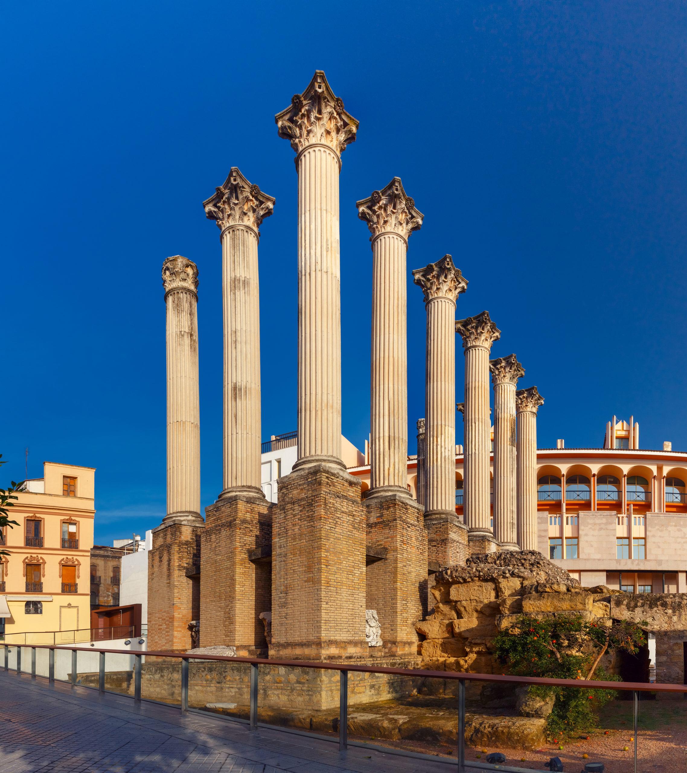 templo-scaled 5 grandes vestigios romanos que puedes visitar en Córdoba